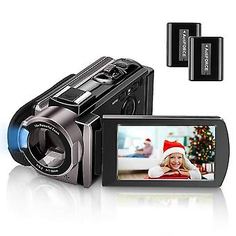 Video camera camcorder kenuo full hd 1080p digital camera vlogging camera for youtube 16x digital zo