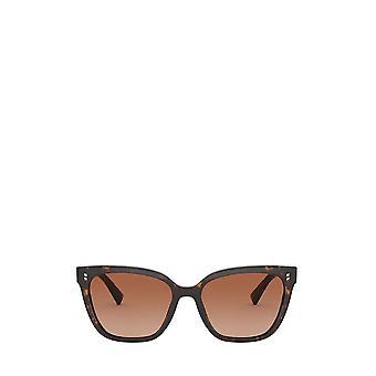 Valentino VA4070 havana vrouwelijke zonnebril