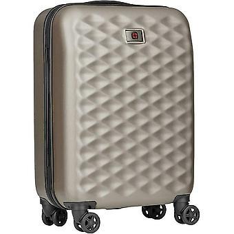 Wenger Lumen Hardside Luggage Global Carry-On Suitcase 4 Wheels & Lock 32 Litres