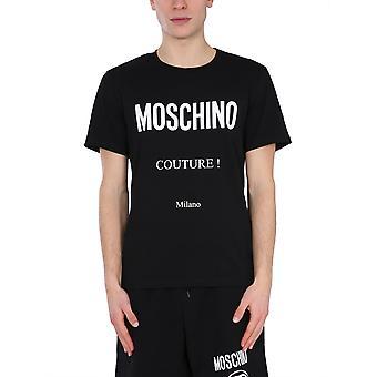 Moschino 073020391555 Heren's Zwart Katoen T-shirt