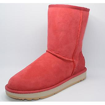 Sheepskin Suede Leather, Mid-calf Slip-on, Fur Rubber Sole, Flats Snow Boots