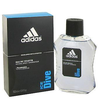 Adidas Ice Dive przez Adidas Woda toaletowa Spray 3,4 uncji/100 ml (mężczyźni)