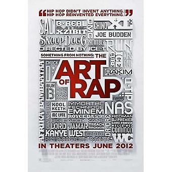 Quelque chose de rien, l'Art de l'affiche du film Rap (11 x 17)