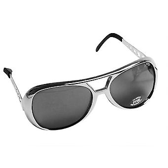 Sunglasses Elvis Unisex Silver One Size