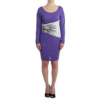 Purple longsleeved dress