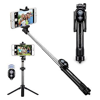 Selfie stick set and tripod tripod with remote control - black