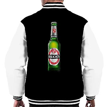 Beck's Bottle Men's Varsity Jacket