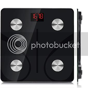 Smart Badeværelse Skala, Bluetooth Kropsfedt Monitor Vægt Skala