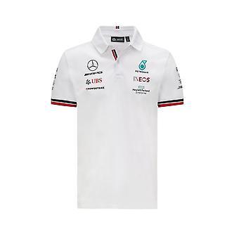 Mercedes AMG Petronas Mercedes Amg Petronas Team Polo Skjorte 2021 Hvit