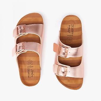 Joules Penley señoras dos sandalias de tira de oro rosa