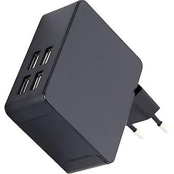 HN Power HNP36-4USB HNP36-4USB USB charger Mains socket Max. output current 7200 mA 4 x USB 2.0 port A