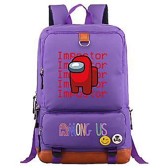 Blandt os Ungdom Student Schoolbag Stor kapacitet Rygsæk 21