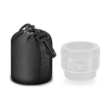 Mekingstudio fekete védő húzózsinóf puha neoprén dslr fényképezőgép lencse tasak táska nikon canon ni wof19945