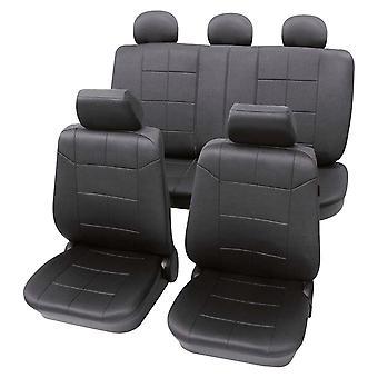 Autositz Abdeckungen Paket Dakar Anthrazit Dunkelgrau, waschbar bei 30 Grad, Airbag kompatibel