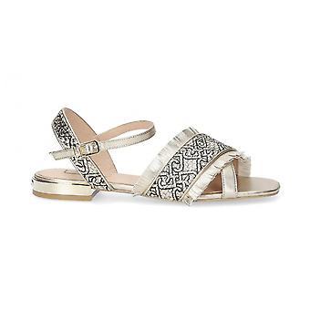 Sapatos femininos Sândalo Liu-jo Astra Ouro Leve Ds21lj22 Sa1021