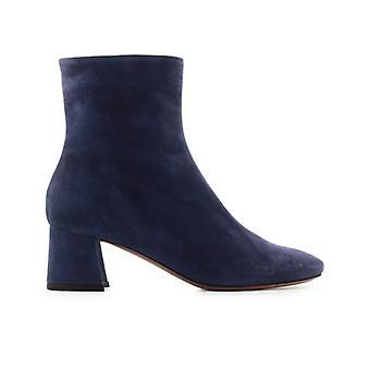 L'autre Chose Blue Suede Ankle Boot