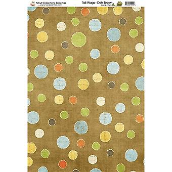 Nitwit Collection - TW Dots Brown Paper A4 10 Sheets