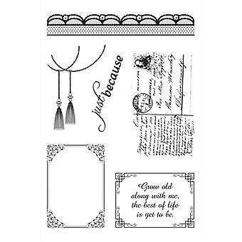 Ultimate Crafts 4x6 Stamp Set - Magnolia Lace