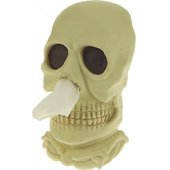 taschentuchhalter Doodskop 29,5 cm Polyresin creme