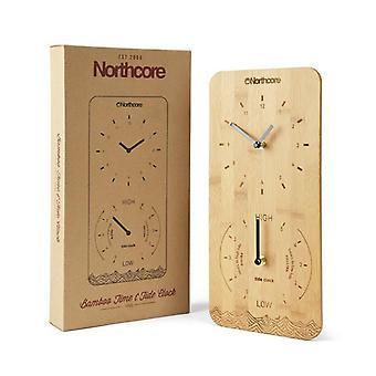 Northcore bamboo wall clock