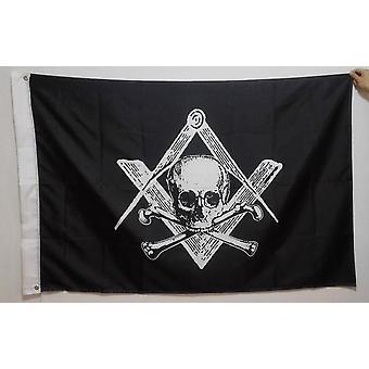 Skull & bones masonic flag