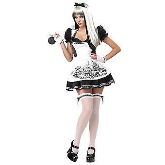 Mørk Alice In Wonderland ondskap gotiske Halloween bok uke kvinner drakt