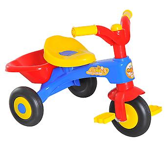 HOMCOM Kids Toddler Tricycle Pedal Bike Ride-on Bicycle First Trike Scooter Baby Balance Bike Toys 18-36 Months