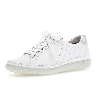 Gabor Amulet Women's Wide Fit Sporty Trainers In White/silver