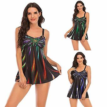 Mädchen Badeanzug Split Frauen sexy Gradient Print plissiert plus Größe Bikini Bademode