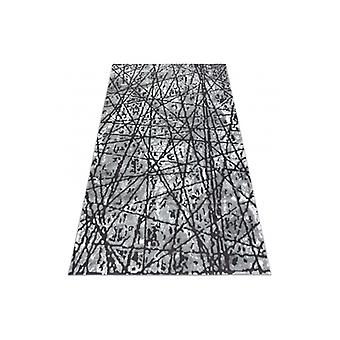 Rug ZARA 0W7053 P50 140 - structural two levels of fleece grey