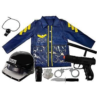 Børnepolitiet outfit kjole op sæt med tilbehør