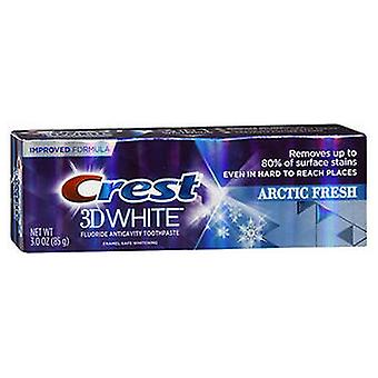Crest Crest 3D White Fluoride Anticavity Toothpaste, Icy Cool Mint 3 Oz