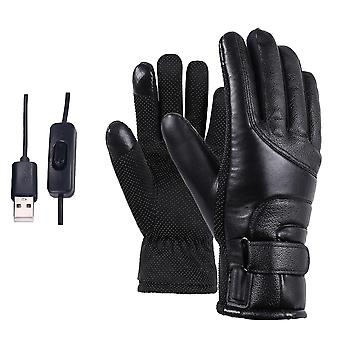 2 Pair Of Electric Heating Gloves For Motorcycle And Outdoor Sports White