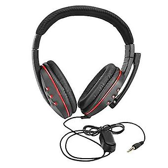 3.5mm Wired Gaming Headphones Over Ear Stereo Bass Game Headset Noise Canceling Earphone