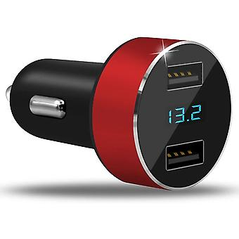 Dual Ports Car Charger Adapter For Mobile Phone Tablet Camera