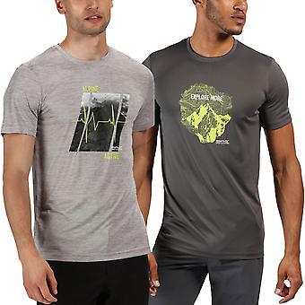 Régate Hommes Fingal V Graphique Active Outdoor Crew Neck Quick Dry T-Shirt Top Tee