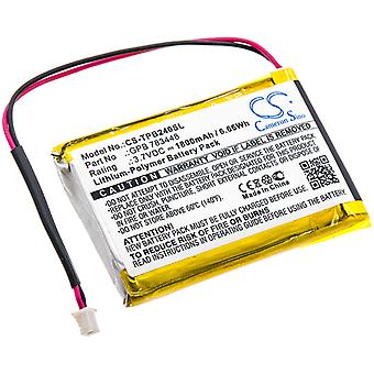 Wireless Headset Battery for TELEX GPB 783448 PB24N PB24ND-TX Transmitter 1800mA