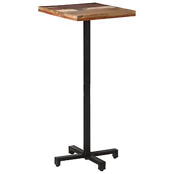 """שולחן ביסטרו vidaXL ריבוע 50x50x110 ס""""מ עץ ממוחזר מוצק"""