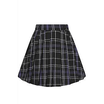 Collectif Clothing Daria Nancy Check Pleated Mini Skirt