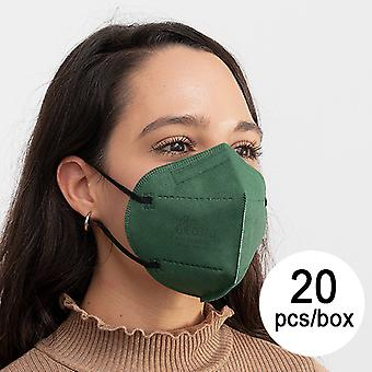 Protective Respirator Mask FFP2 NR JS MY-001 Military green (Pack of 20)