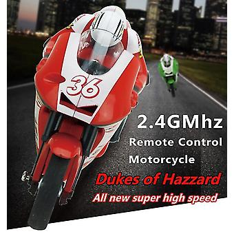 Motor Motorcycle Electric Nitro Remote Control Car Recharge Racing Moto Bike of Boy Toy Gift(Red)