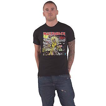 Iron Maiden T Shirt Killers Version 2 Album Track list new Official Mens Black