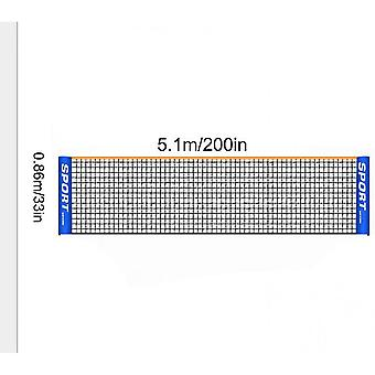 Draagbare Badminton Net Set - Voor Tennis, Voetbal Tennis, Pickleball (5.1m)