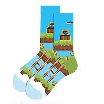 Level Up Video Game Socks from the Sock Panda