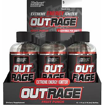 Out Rage Shots, Fruit Punch - 12 x 118 ml.