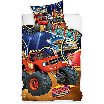 Blaze and Monster Machines Duvet Cover Bed Set 140x200+70x90cm