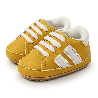Classic Stripe Leather Toddler Rubber Sole Anti-slip Shoes