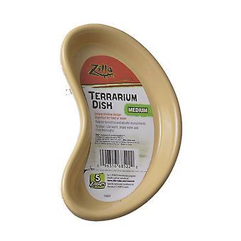 "Zilla Kidney Shaped Terrarium Dish - Food or Water - Medium - 5.25"" Long - (Assorted Colors)"
