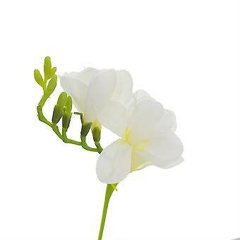 40cm Blanco Artificial Faux Freesia Tallo para Artesanías de Floristería