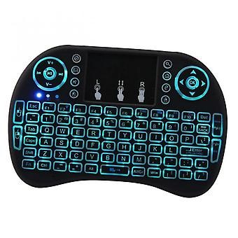Koolyou Wireless Backlit Mini Keyboard I8 Wireless Touch Smart Flying Squirrel Keyboard With Tri-color Backlit Screen